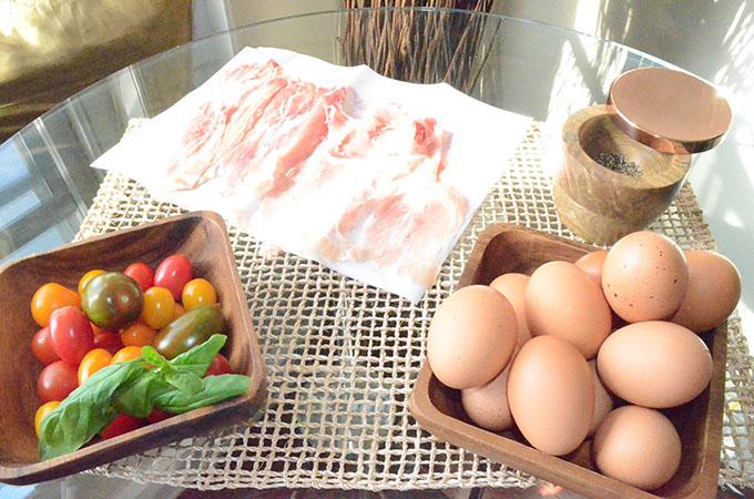Heirloom Tomato, Basil, Mozzarella + Prosciutto Frittata | StyleChile-21