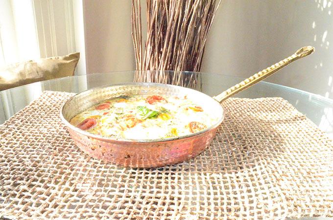 Heirloom Tomato, Basil, Mozzarella + Prosciutto Frittata | StyleChile-39