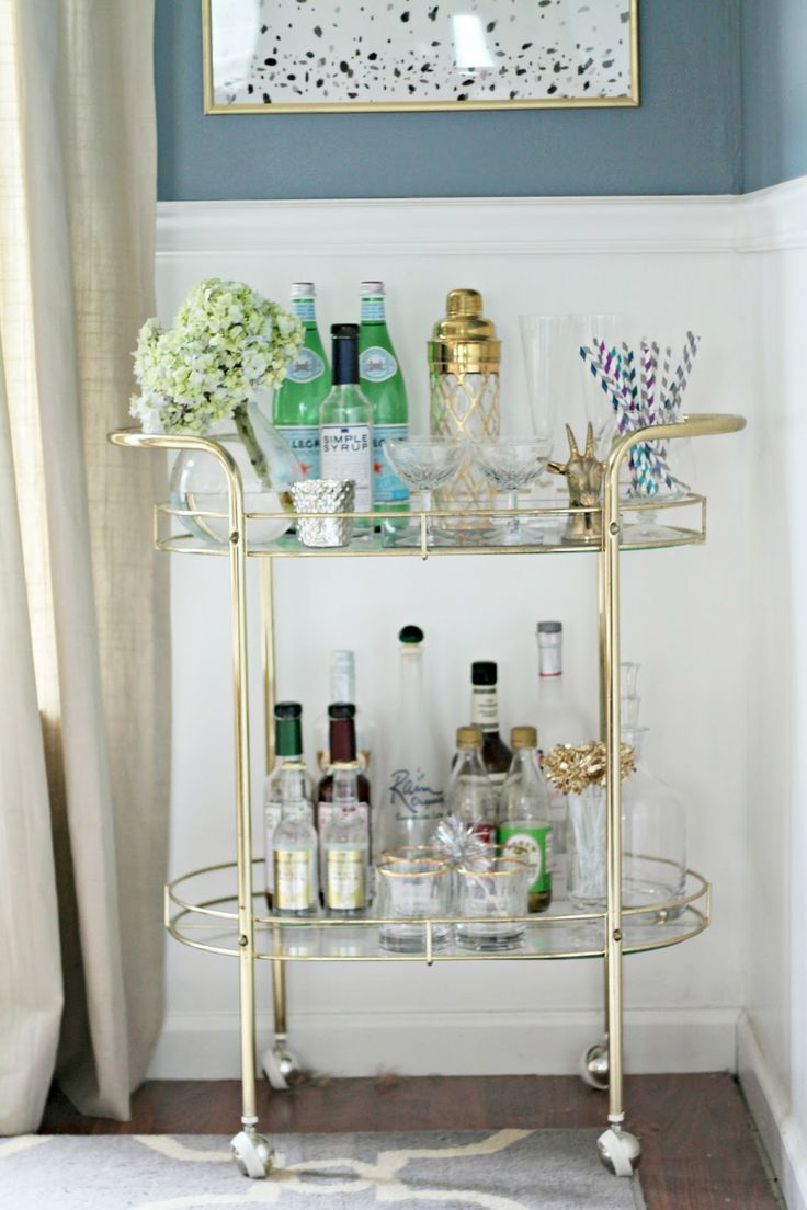 Chic Gold Bar Carts For Under 300 StyleChile Life Styled
